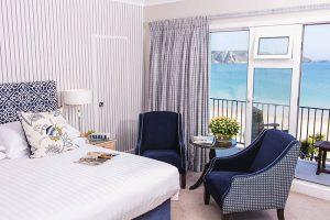 Bedroom view in St Brelades Bay Hotel